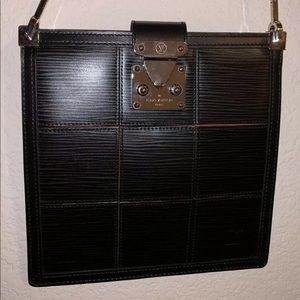 Louis Vuitton Bag metal handle epi leather black
